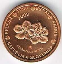 Slovenia 2003 (Gr) probe-pattern-essai - 2 eurocent - Bloem / Flower