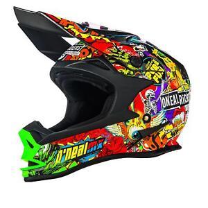 O'Neal 7SRS MX Helm Evo CRANK Schwarz Multi XXL Motocross Motocross Enduro