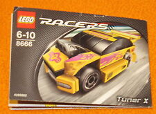 Lego Set 8666 INSTRUCTIONS ONLY Racers Tuner X Car Manual Booklet Book Race