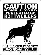 Rottweiler Guard Dog Aluminum Sign Dog With Vinyl Graphics Applied 2496Hyrw