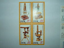 1980 DDR EAST GERMANY CARL ZEISS OPTICAL MUSEUM BLOCKx 4 MNH (sgE2253a) CV £3.50