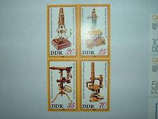 1980 Ddr Alemania Oriental Museo óptica Carl Zeiss Blockx 4 estampillada sin montar o nunca montada (sgE2253a) CV £ 3.50