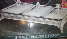 VTG INTERNATIONAL SILVER PLATED COVERED TRIPLE BAKER PYREX 1 1/2 QT LINER BOWL