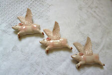 CERAMIC FLYING PIGS , WALL HANGING ,