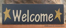 """Mini Wooden Sign """"Welcome"""" Country Decor Wall hanging or Shelf sitter Assorted"""