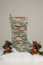 Army Christmas Stocking - by Camosock - ACU Camouflage