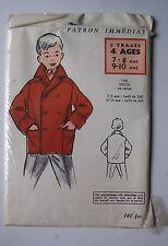 #) patron vintage MODES ET TRAVAUX veste garçon tailles 7 8 9 10 ans
