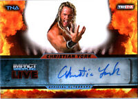 TNA Christian York 2013 Impact Wrestling LIVE GOLD Autograph Card SN 13 of 99