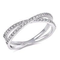 USA Seller Criss Cross Ring Sterling Silver 925 Best Price Jewelry Selectable