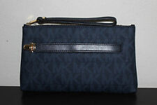 NWT MICHAEL Michael Kors Baltic Blue Charlton Medium Wristlet