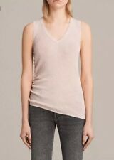 ALLSAINTS ROSEN KNIT VEST TOP UK M BNWT Rrp  RETAL PINK KNIT V NECK TOP 78.00