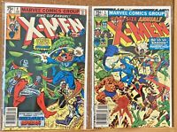 VINTAGE 1980 UNCANNY X-MEN ANNUALS #4 5 MARVEL COMICS 1ST SERIES MID-HIGH GRADE!