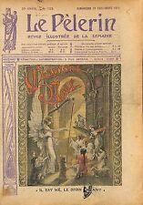 Art Religion Catholique Anges Noël Jesus il est Né le divin  1913 ILLUSTRATION