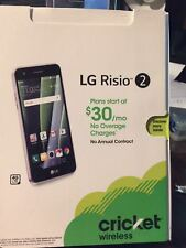 Brand New LG Risio 2 4G LTE with 16GB Locked Cricket Cell Phone - Silver