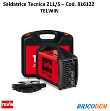 Saldatrice inverter Telwin Tecnica 211/S  816122 ad elettrodo MMA Tig 180A valig