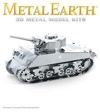 Fascinations Metal Earth Sherman Tank WWII Laser Cut 3D Model