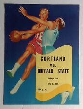 Cortand vs Buffalo State 1956 college basketball game program, nice color cover