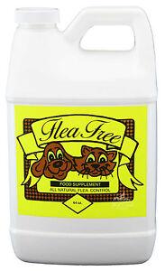 Flea Free Food Supplement 64 oz Natural Pet Flea Mite Preventative FREE 2nd Day