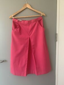 Vintage Pink Cotton Pringle Skirt - Size 14