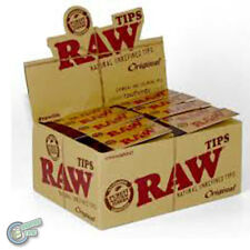 RAW TIPS Rolling Papers Cigarette Filter Standard Size (50 Packs = 2500 Tips)