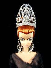 Miss Universe Platinum Crown Tiara Barbie Fashion Royalty Silkstone Pageant Doll