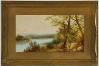 Gilt Framed Early 20th Century Oil - River Landscape