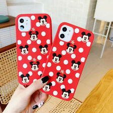 For Apple iPhone 11 Pro Max XS X 8 Disney Mickey Minnie Silicone Full Soft Case