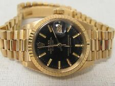 Rolex Oyster Perpetual Datejust 18K Yellow Gold Watch 6917 Solid Gold