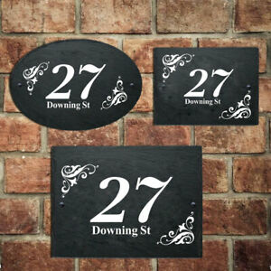 Personalised House Sign Plaques Custom House Numbers For Housewarming Door Home