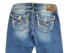 Silver Brand PIONEER Womens Jeans Size W26/L33 Distressed Boot Cut Fit 28X32
