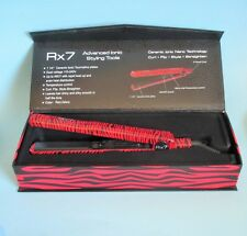 "Rx7 SUPERLITE CERAMIC IONIC TOURMALINE 1.25 ""FLAT IRON RED ZEBRA New in Box $150"