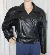 Vintage 90s Womens Wilsons Medium Black Leather Jacket