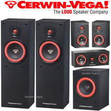 Cerwin Vega 5.1 Home Theater Bundle SL Series SL-8 SL-5M SL-25C SL-10S Subwoofer