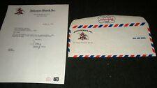 3 1960's Anheuser Busch, Budweiser Beer Letterhead & Factory & Air Mail Envelope