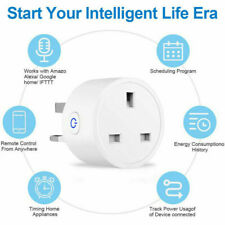 Smart Plug WiFi Socket Outlet Power Monitor Timing Switch For Alexa Google Home