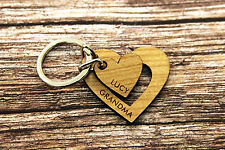 Engraved Keyring Love Heart - Wedding Love Special Couple Engagement