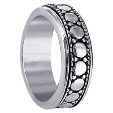 Men's 925 Sterling Silver 7mm Spinning Band Size 7 - 12