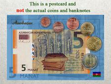 Postcard: Azerbaijan Circulating Coins and Currency (Banknote) 2013