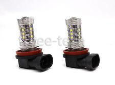 2x WHITE High Power H11 30W LED Light Bulbs Headlights Lamps DRL Fog Foglight