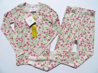 Hanna Andersson 110 120 140 Girls Pajamas Long John Organic Cotton NEW Pink NWT