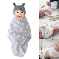 Boy/Girl Infant Cotton Baby Swaddle Wrap Sleepsack Stars Stripe Newborn Blanket