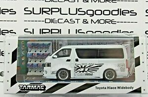 Tarmac Works 1:64 2021 Hobby64 Release White TOYOTA HIACE WIDEBODY #T64-038-WH