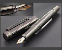Schwerer Metall Füller * F FEDER 22K VERGOLDET * Fountain Pen