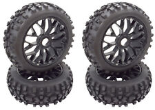 Apex RC Products 1/8 Off-Road Buggy Black Mesh Wheels / Attack Tires #6040 2Pack