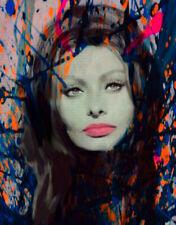 Motiv Kate Moss Gold Silbergebürstetes Alu 95x75 Pop Art//Bild//Poster//Druck//Loft//