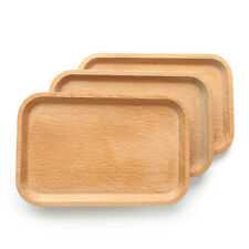 Wooden Rectangle Breakfast Food Dish Snack Serving Tray Salad Bowl Platter Plate