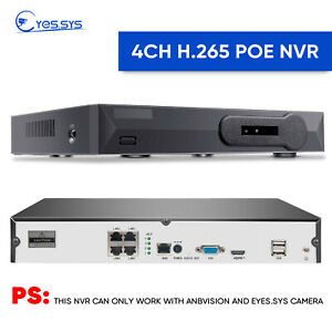 4CH/8CH H.265 HDMI 5MP POE Network NVR CCTV SYSTEM FOR Anbvision Eyes.sys Camera
