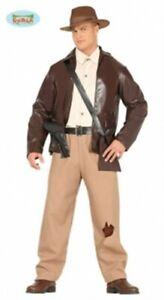 Men's Adventurer Costume - Indiana Jones Men's Adults Fancy Dress Costume