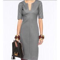 DVF Diane von Furstenberg Gray Wool Aurora Sheath Pencil Dress SZ 0