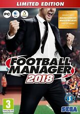 Football Manager 2018 Limited Edition (PC) BRAND NEW AND SEALED - QUICK DISPATCH